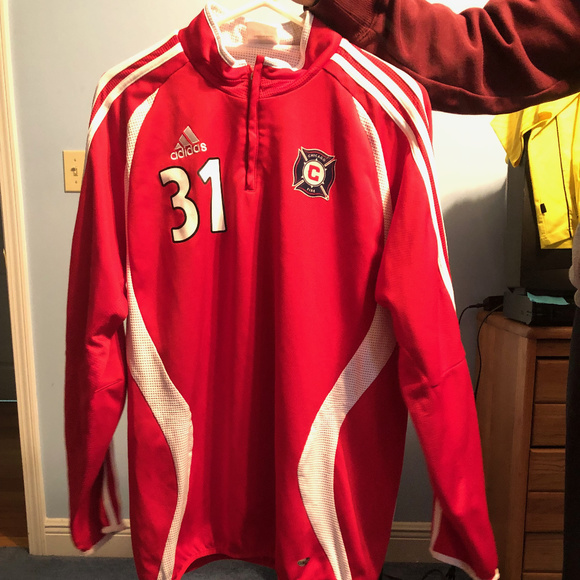 innovative design eee9a ccd95 Chicago Fire Adidas Training Quarter Zip
